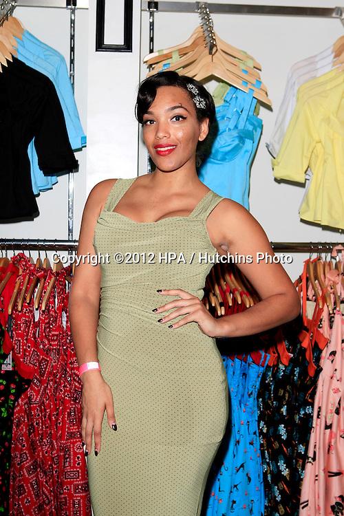 LOS ANGELES - AUG 3:  Ashleeta Bouchon at the Pinup Girl Boutique opening at Pinup Girl Boutique on August 3, 2012 in Burbank, CA