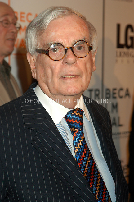 WWW.ACEPIXS.COM . . . . . ....NEW YORK, APRIL 24, 2005....Dominick Dunne at the screening of 'Fierce People' at the Tribeca Film Festival.....Please byline: KRISTIN CALLAHAN - ACE PICTURES.. . . . . . ..Ace Pictures, Inc:  ..Craig Ashby (212) 243-8787..e-mail: picturedesk@acepixs.com..web: http://www.acepixs.com