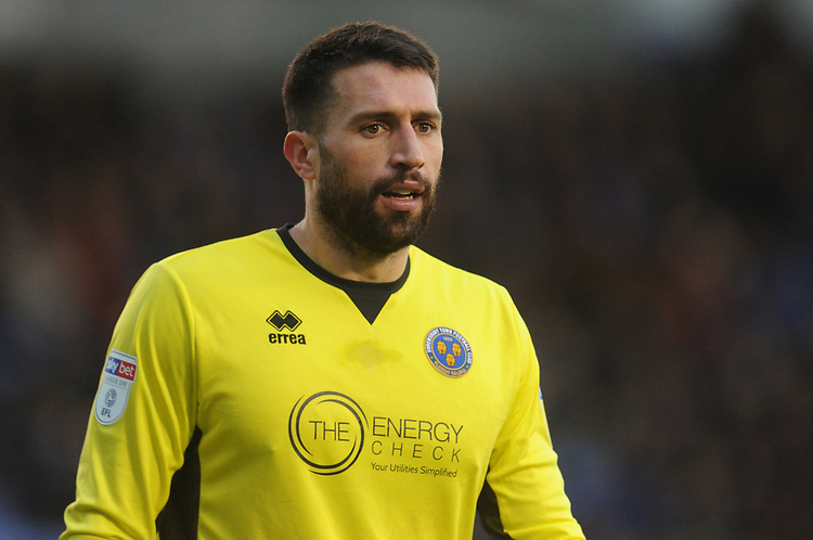 Shrewsbury Town's Steve Arnold<br /> <br /> Photographer Kevin Barnes/CameraSport<br /> <br /> The EFL Sky Bet League One - Shrewsbury Town v Fleetwood Town - Tuesday 1st January 2019 - New Meadow - Shrewsbury<br /> <br /> World Copyright © 2019 CameraSport. All rights reserved. 43 Linden Ave. Countesthorpe. Leicester. England. LE8 5PG - Tel: +44 (0) 116 277 4147 - admin@camerasport.com - www.camerasport.com