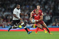 Jonathan Joseph of England in mid-field action during Match 1 of the Rugby World Cup 2015 between England and Fiji - 18/09/2015 - Twickenham Stadium, London <br /> Mandatory Credit: Rob Munro/Stewart Communications