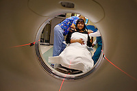 Los Angeles, California, May 9, 2012 - Artificial heart recipient Michelle Johnson visits the Cedar-Sinai Heart Institute for a series of checkups and to see if she will qualify to be placed on the donor list for a new heart. Johnson received a heart transplant in December of 2010, but here body soon rejected it. She received the artificial heart in January of 2012 to buy her time so her doctors could study why her body built antibodies against the first heart. She is the first woman to have an artificial heart. Today she was told that she had placed back on the list for a new heart. The artificial heart is called CardioWest Artificial Heart, made by SynCardia. It is considered a bridge-to-transplant tool to help patients who would otherwise die, while waiting for a transplant.  Because it is able to be plugged into a portable unit with its own battery pack, patients are able to leave the hospital and lead somewhat normal lives. Johnson says though, ?Time is limited with the batteries. I can get my nails done, but that is about it. ?