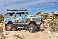 Terlingua Road Art.  We are not sure what kind of vehicle this is but we loved the art.