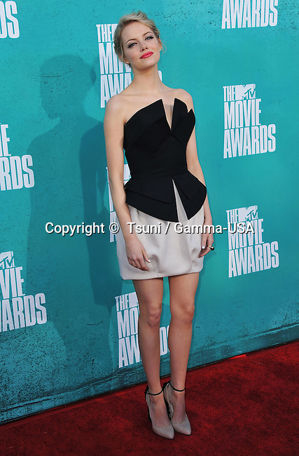 Emma Stone  at the MTV Movie Awards 2012 at the Universal Amphitheatre in Los Angeles.