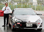 "September 19, 2017, Tokyo, Japan - Japanese automobile giant Toyota Motor president Akio Toyoda stands next to Toyota 86 sports car after he introduced Toyota's sports car series ""GR sports"" from Gazoo racing at Toyota's showroom Megaweb in Tokyo on Tuesday, September 19, 2017. GR series are sports tuned Toyota's vehicle and seven models are started to sell from September 19 through Toyota's shops.    (Photo by Yoshio Tsunoda/AFLO) LWX -ytd-"