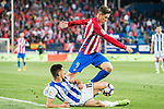 Fernando Torres (r) of Atletico de Madrid competes for the ball with Yuri Berchiche Izeta of Real Sociedad during their La Liga match between Atletico de Madrid vs Real Sociedad at the Vicente Calderon Stadium on 04 April 2017 in Madrid, Spain. Photo by Diego Gonzalez Souto / Power Sport Images
