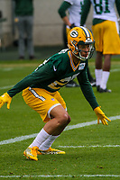 Green Bay Packers safety Josh Jones (27) during an Organized Team Activity on May 23, 2017 at Clarke Hinkle Field in Green Bay, Wisconsin.  (Brad Krause/Krause Sports Photography)