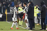 Massimiliano Allegri-Douglas Costa-Paulo Dybala<br /> Torino 28-02-2018 Allianz Stadium Calcio Coppa Italia Tim Cup Juventus - Atalanta foto Image Sport/Insidefoto