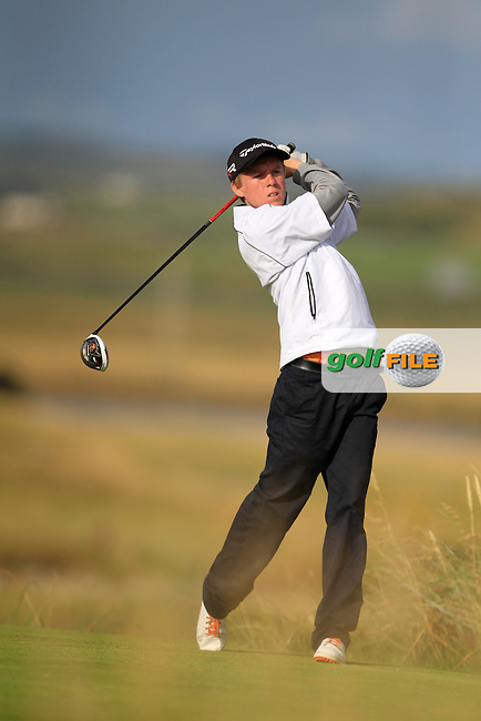 Mathew Kane (Whitehead) on the 13th tee during the South of Ireland Amateur Open Championship Second Round at Lahinch Golf Club  28th July 2013 <br /> Picture:  Thos Caffrey / www.golffile.ie
