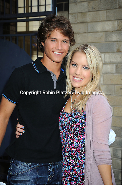 Andrew Trischitta and Kristen Alderson attending The One Life to Live.43rd Anniversary Block Party outside the ABC Studio on July 15, 2011 in New York City.