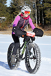 DEADWOOD, SD - JANUARY 23, 2016 -- Heather Heynen #138 races in the women's open fat-tire bike class during the 2016 Snow Jam Points Series at Tomahawk Country Club south of Deadwood, S.D. Saturday. (Photo by Richard Carlson/dakotapress.org)