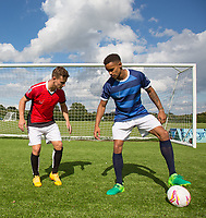 Paris Cowan-Hall & Dominic Gape during the PEAK Elite Sportswear Photoshoot at Wycombe Training Ground, High Wycombe, England on 1 August 2017. Photo by PRiME Media Images.