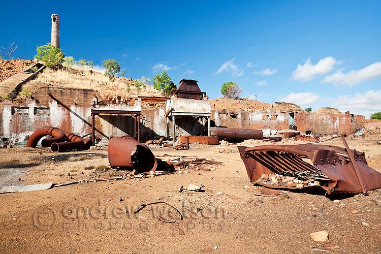 Rusting ruins of old Chillagoe smelter.  Chillago, Queensland, Australia
