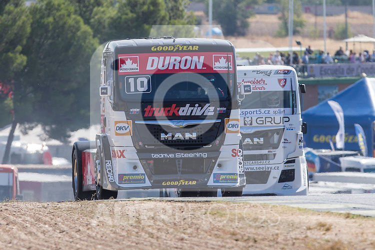 Monegasque driver Ellen Lohr belonging German team Truck Sport Lutz Bernauduring the super pole SP1 of the XXX Spain GP Camion of the FIA European Truck Racing Championship 2016 in Madrid. October 01, 2016. (ALTERPHOTOS/Rodrigo Jimenez)