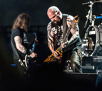 Slayer performs at the 2014 Voodoo Music Experience in New Orleans, LA.