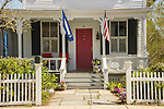 New England home, Essex Village, CT. Thomas Millard house. 1863