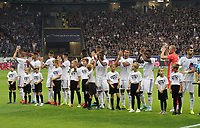 Mannschaft von Racing Straßburg - 29.08.2019: Eintracht Frankfurt vs. Racing Straßburg, UEFA Europa League, Qualifikation, Commerzbank Arena<br /> DISCLAIMER: DFL regulations prohibit any use of photographs as image sequences and/or quasi-video.