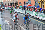 Tralee hosted the finish of the fourth stage.of one of the biggest sporting events in the.country on Wednesday as the annual FBD.Milk Ra?s completed a gruelling stage of.the race..The stage ran for a total of 156km from Corofin in.Co. Clare to Tralee to complete the fourth day of racing.in one of the biggest racing events in the country..About 150 racers made their way into town from.Castleisland via Kielduff, Clash and Boherbee in the.driving rain..There was strong interest locally with the involvement.of Kerry cyclists, Paul Griffin (Tralee), Michea?l.Concannon (Killorglin), Sea?n Lacey (Tralee) and.Eugene Moriarty (Listowel).The stage finished in Tralee at about 3pm and saw.2004 champion David McCann of the Irish team take.the yellow jersey. It was a day of mixed fortunes for.the Irish. In the top ten was McCann's team-mate.Roger Aiken, who finished eighth, while Stephen.Gallagher of the An Post team came in ninth. Meanwhile,.race leader Mark Cassidy had to withdraw.from the race after he crashed early in the morning in.Limerick and was taken to hospital with a suspected.broken elbow..The Boherbee and Castle Street areas were closed.to traffic as the racers made their way towards the.town centre finish line..The fifth stage of the race will set out today (Thursday).at 11am from Denny Street as riders make their.way through Farranfore, Killarney, Moll's Gap and.Kenmare as part of the 90-mile stage to Skibbereen.