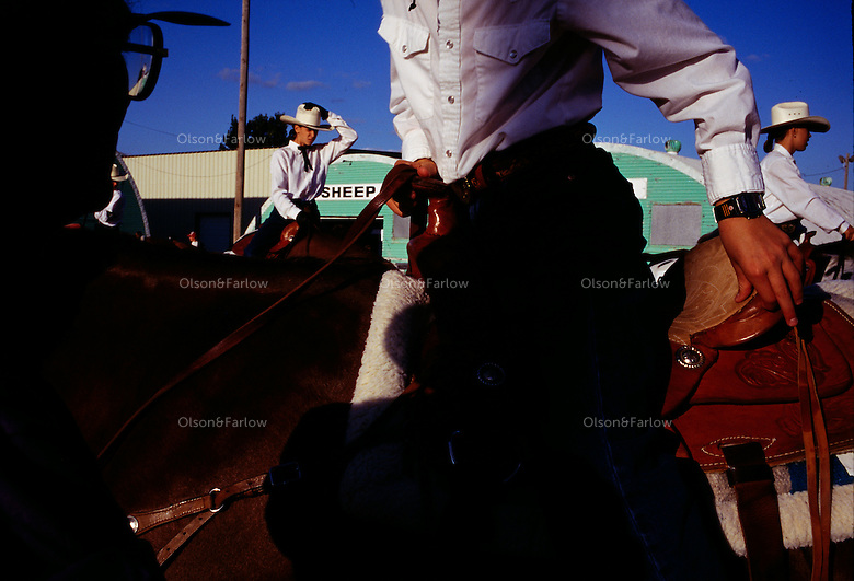 "Brazoria County Fair manager Anita Rogers confesses that the midway ""probably brings more people through the gate than any other single attraction."" But Texans will still turn out for dashing riders, whether they are rodeo professionals or equestrian showmanship competitors like these."