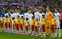 England team sing the national anthem