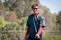 Pitcher Hideki Okajima. Boston Red Sox return for spring training, Fort Myers, Florida, USA, Feb. 13, 2011. Photo by Debi Pittman Wilkey