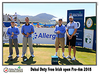 Peter Uihlein (USA) team on the 10th tee during Wednesday's Pro-Am of the 2018 Dubai Duty Free Irish Open, held at Ballyliffin Golf Club, Ireland. 4th July 2018.<br /> Picture: Eoin Clarke | Golffile<br /> <br /> <br /> All photos usage must carry mandatory copyright credit (&copy; Golffile | Eoin Clarke)