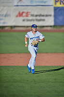 Niko Hulsizer (12) of the Ogden Raptors during the game against the Orem Owlz at Lindquist Field on June 19, 2018 in Ogden, Utah. The Raptors defeated the Owlz 7-2. (Stephen Smith/Four Seam Images)