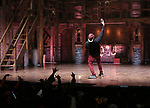 """Host Bryan Terrell Clark on stage during The Rockefeller Foundation and The Gilder Lehrman Institute of American History sponsored High School student #EduHam matinee performance of """"Hamilton"""" at the Richard Rodgers Theatre on October 24, 2018 in New York City."""