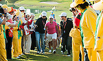 Yani Tseng of Taiwan leaves the 16th green escorted by security  during the Day 4 of the LPGA Sunrise Taiwan Championship on at Sunrise Golf Course on October 23, 2011 in Taoyuan, Taiwan. Photo by Victor Fraile / The Power of Sport Images