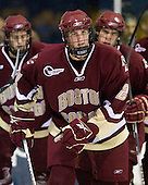 Brian Dumoulin (BC - 2) - The Merrimack College Warriors defeated the Boston College Eagles 5-3 on Sunday, November 1, 2009, at Lawler Arena in North Andover, Massachusetts splitting the weekend series.