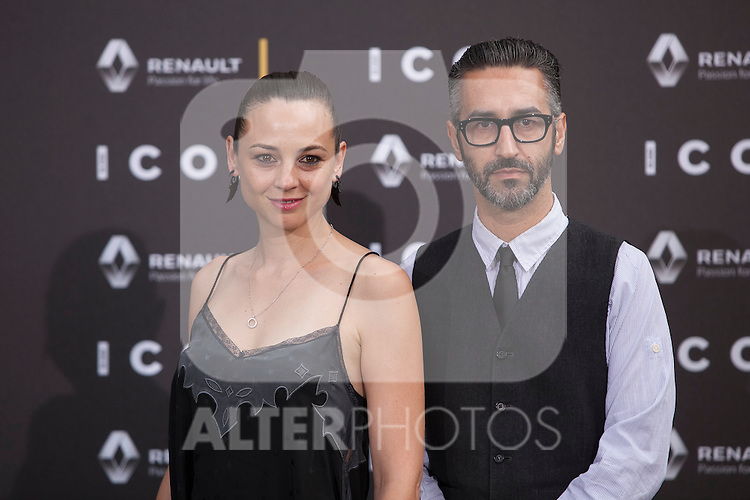 Leonor Watling poses at ICON awards ceremony in Madrid, Spain. June 03, 2015. (ALTERPHOTOS/Victor Blanco)