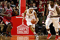 December 14, 2013: Terran Petteway (5) of the Nebraska Cornhuskers gets the rebound and breaks down court against the Arkansas State Red Wolves at the Pinnacle Bank Areana, Lincoln, NE. Nebraska defeated Arkansas State 79 to 67.