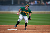 Siena Saints second baseman Jordan Bishop (4) during a game against the UCF Knights on February 21, 2016 at Jay Bergman Field in Orlando, Florida.  UCF defeated Siena 11-2.  (Mike Janes/Four Seam Images)