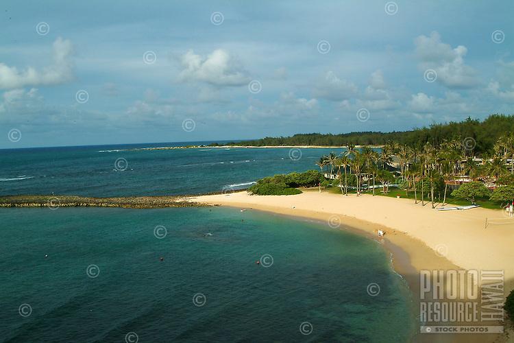 Turtle bay resort beach on Oahu's north shore