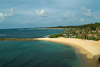 Turtle bay resort beach on Oahu's north shore