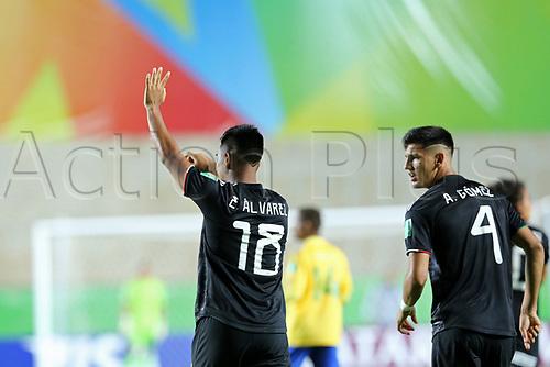 03th November 2019; Kleber Andrade Stadium, Cariacica, Espirito Santo, Brazil; FIFA U-17 World Cup Brazil 2019, Mexico versus Solomon Islands; Efrain Alvarez of Mexico celebrates his goal in the 2nd minute, 1-0