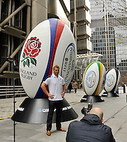 London, England Chris Robshaw of England poses for photos at a press conference to announce the England rugby squad for the QBE Internationals on October 25, 2012 in London, England