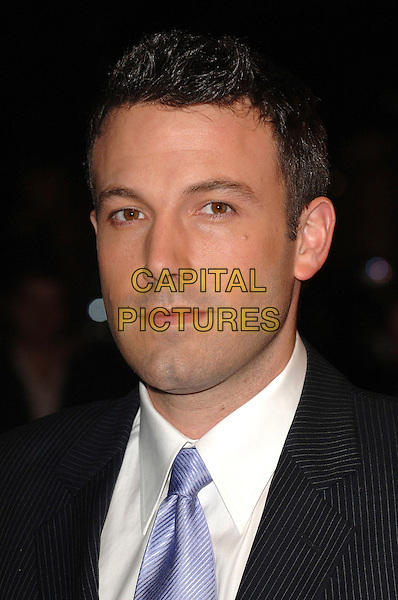 "BEN AFFLECK.Attending ""Hollywoodland"" Gala Screening during The 50th Times London BFI Film Festival, Odeon West End, London, England, 30th October 2006..portrait headshot blue lilac tie.Ref: BEL.www.capitalpictures.com.sales@capitalpictures.com.©Tom Belcher/Capital Pictures."