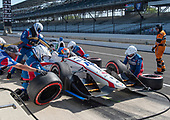Verizon IndyCar Series<br /> IndyCar Grand Prix<br /> Indianapolis Motor Speedway, Indianapolis, IN USA<br /> Saturday 13 May 2017<br /> Ed Jones, Dale Coyne Racing Honda pit stop<br /> World Copyright: Geoffrey M. Miller LAT Images