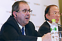 L to R Javier Gonzalez, Toshiro Muto, DECEMBER 16, 2014 : press conference of the 1st IPC- Tokyo 2020 Project Review the Tokyo Organising Committee of the Olympic and Paralympic Games (TOCOG) members and IPC committee members was held in the Grand Prince Hotel New Takanawa, Tokyo, Japan. (Photo by AFLO SPORT) [1180]