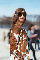 Carine Roitfeld at Paris Fashion Week (Photo by Hunter Abrams/Guest of a Guest)