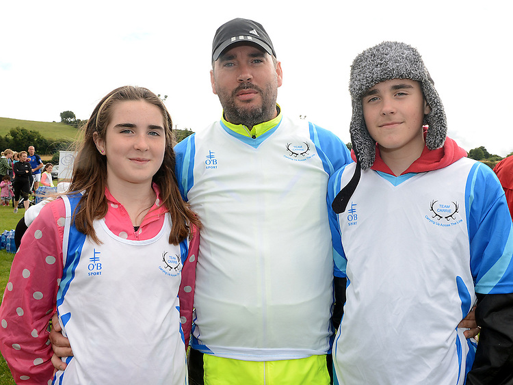Amy, Seamus and Ben Carrie who took part in Tiaran's 5K run at Hunterstown. Photo:Colin Bell/pressphotos.ie