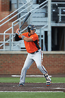 Jomar Reyes (13) of the Frederick Keys at bat against the Buies Creek Astros at Jim Perry Stadium on April 28, 2018 in Buies Creek, North Carolina. The Astros defeated the Keys 9-4.  (Brian Westerholt/Four Seam Images)