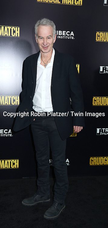 "John McEnroe attends the World Premiere of ""Grudge Match"" at the Ziegfeld Theatre in New Yok City on December 16, 2013."