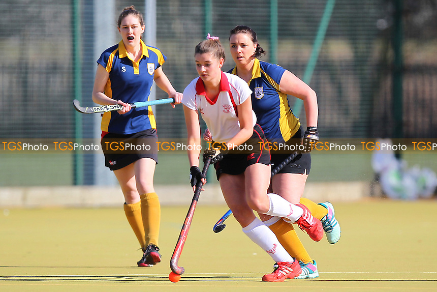 Romford HC Ladies vs Havering HC Ladies - Essex Hockey League at Robert Clack Leisure Centre - 07/03/15 - MANDATORY CREDIT: Gavin Ellis/TGSPHOTO - Self billing applies where appropriate - contact@tgsphoto.co.uk - NO UNPAID USE