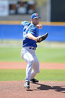 Toronto Blue Jays pitcher Matt Dermody (48) during a minor league spring training game against the New York Yankees on March 16, 2014 at Englebert Minor League Complex in Dunedin, Florida.  (Mike Janes/Four Seam Images)