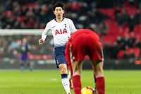 Son Heung-Min of Tottenham Hotspur during the Premier League match between Tottenham Hotspur and Watford at Wembley Stadium, London, England on 30 January 2019. Photo by Adamo Di Loreto.<br /> <br /> Editorial use only, license required for commercial use. No use in betting, games or a single club/league/player publications.
