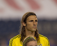 Columbus Crew defender Frankie Hejduk (2). The New England Revolution tied Columbus Crew, 2-2, at Gillette Stadium on September 25, 2010.
