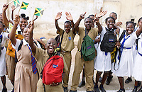 Schoolchildren in Trenchtown, Jamaica