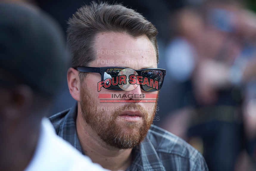Former Wake Forest Demon Deacon and current scout for the Pittsburgh Pirates Adam Bourassa takes in Game Eleven of the 2017 ACC Baseball Championship between the Florida State Seminoles and the Louisville Cardinals at Louisville Slugger Field on May 26, 2017 in Louisville, Kentucky.  The Seminoles defeated the Cardinals 6-2 to advance to the semi-finals.  (Brian Westerholt/Four Seam Images)
