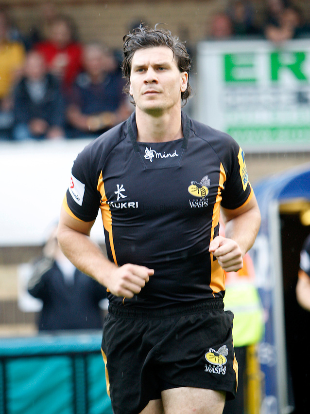 Photo: Richard Lane/Richard Lane Photography. London Wasps v London Irish. Pre Season Friendly. 24/08/2013. Wasps' Ben Jacobs.